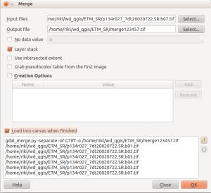 merge function in QGIS