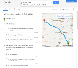 detailed route in the new google maps
