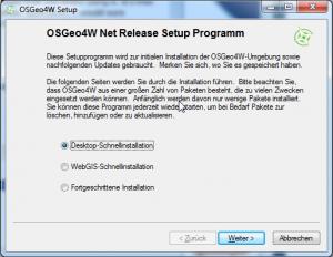 Express Desktop Install on OSGEO4W Installer