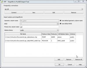 shapefile import using SPIT on QGIS
