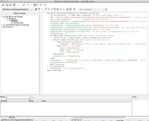 function, VBA, Basic, LibreOffice