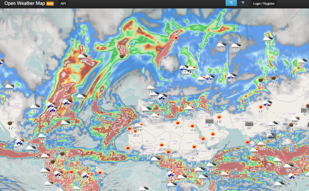 Open Weather Map Api Example.Digital Geography