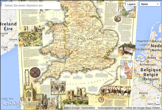 Map Of England Google Maps.Digital Geography