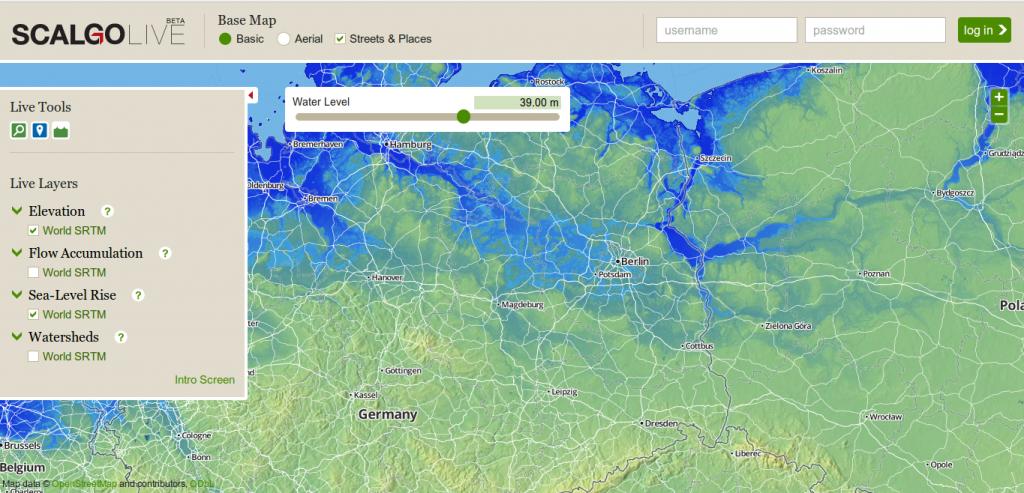 meeresspiegelanstieg karte Digital Geography