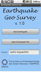 The start site of the App.