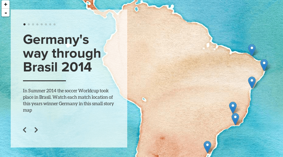 story map of Germany worldcup 2014