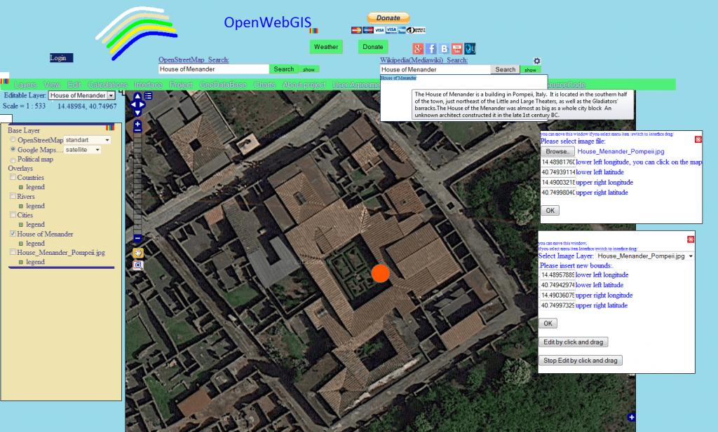 Pompeii Map Google View on Google Maps of Villa