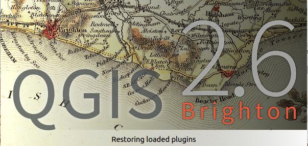 QGIS 2.6 sttart screen