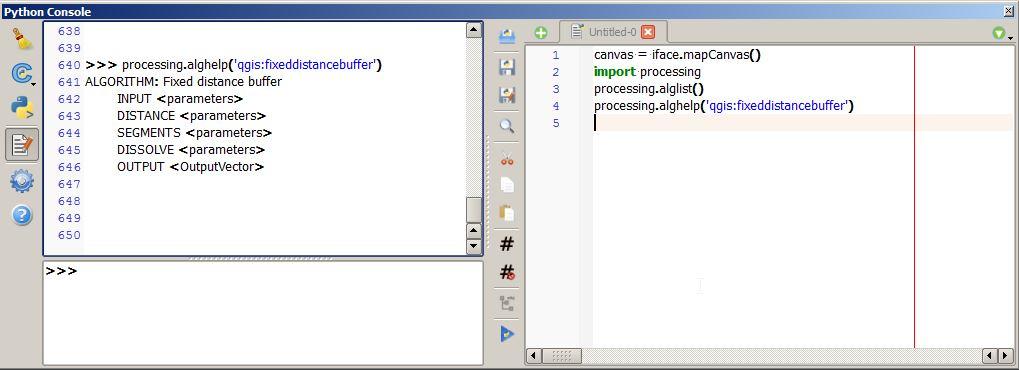 usage info python console