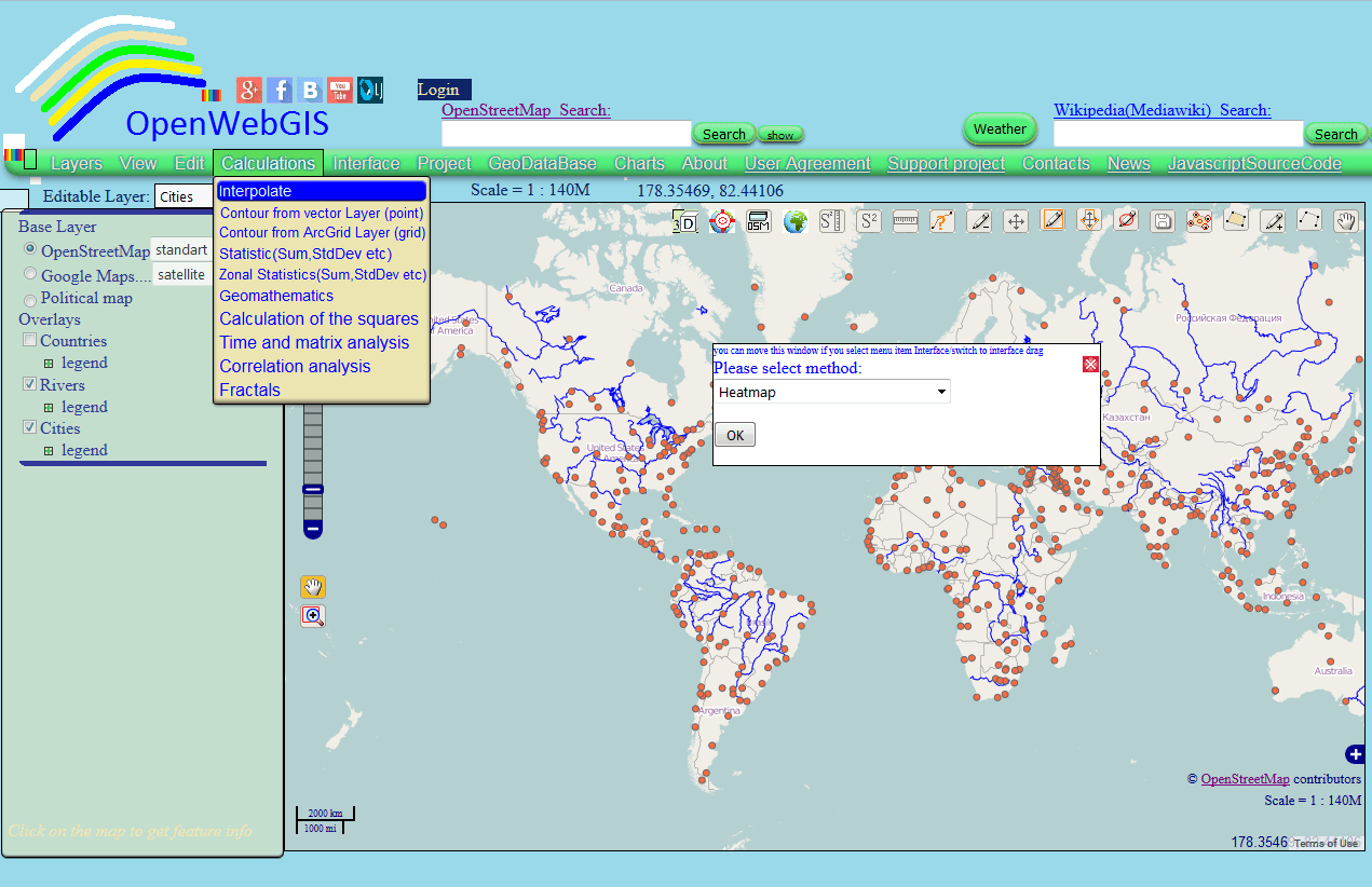 Digital geography figure 1 interpolation pop up window in openwebgis interface gumiabroncs Image collections