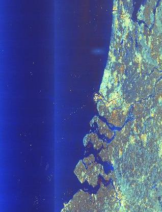 Sentinel-1 image showing Zeeland in the Netherlands