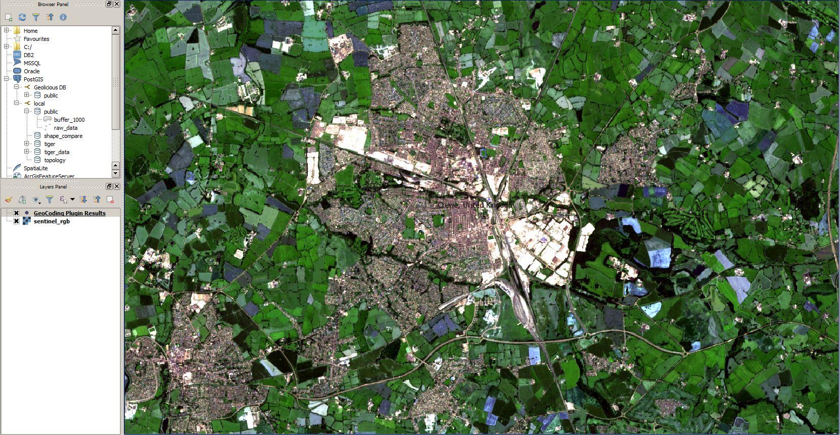 Sentinel-2 image Crewe